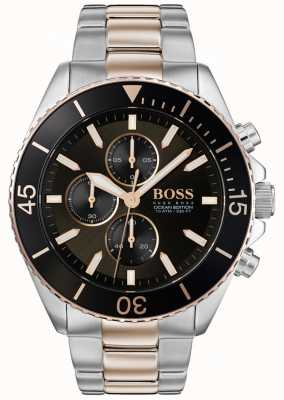 Hugo Boss | Mens Ocean Edition | Two Tone Stainless Steel | Black Dial 1513705