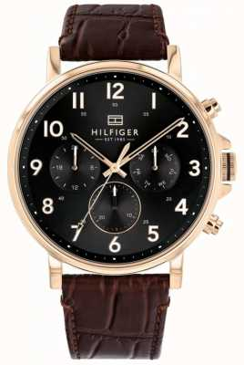 Tommy Hilfiger | Mens Brown Leather Daniel Watch | 1710379