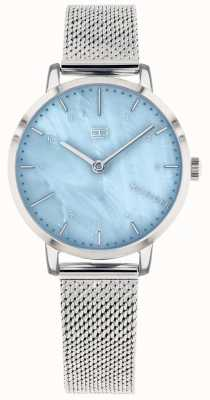 Tommy Hilfiger | Women's Lily Watch| Stainless Steel Mesh | Blue Dial | 1782041