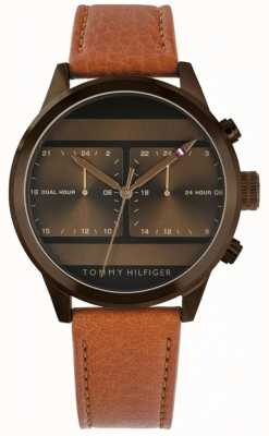 Tommy Hilfiger | Mens Brown Leather Watch | 1791594
