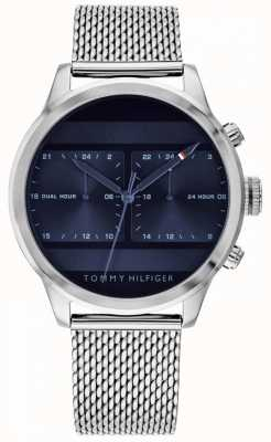 Tommy Hilfiger | Mens Stainless Steel Mesh Watch | Blue Dial | 1791596
