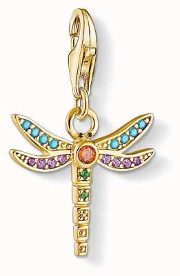 Thomas Sabo | Dragonfly Charm | Gold Plated Sterling Silver | 1758-974-7