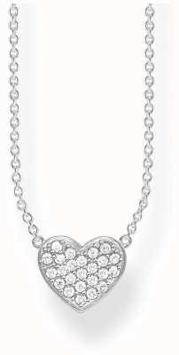 Thomas Sabo   Sterling Silver Glam And Soul Heart Necklace   KE1547-051-14-L45V