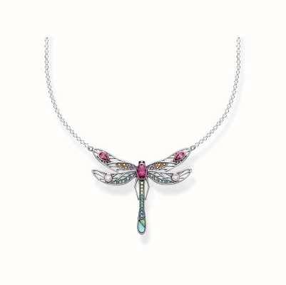 Thomas Sabo | Sterling Silver Multi Stone Dragonfly Necklace | KE1838-998-7-L45V