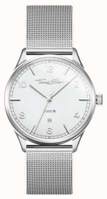 Thomas Sabo | Stainless Steel Silver Mesh Bracelet | White Dial | WA0338-201-202-40