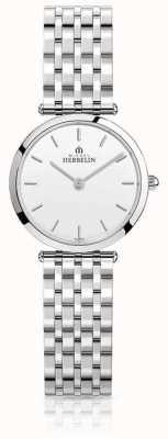 Michel Herbelin Womens Epsilon Stainless Steel Bracelet White Dial 17116/B11