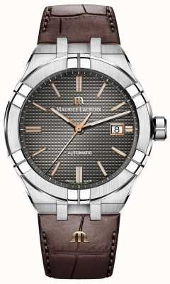 Maurice Lacroix Aikon Automatic Brown Leather Strap Anthracite Dial AI6008-SS001-331-1