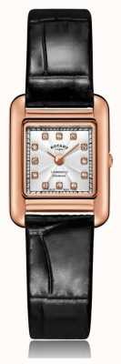 Rotary | Ladies Black Leather Strap | Rose Gold Case | LS05289/70/D