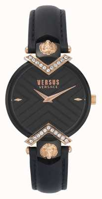 Versus Versace | Ladies Black Leather Strap | VSPLH1419