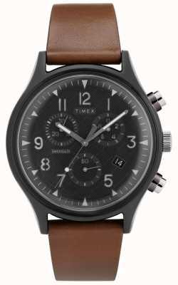 Timex | MK1 Steel Supernova Chrono | Leather Watch | TW2T29600D7PF