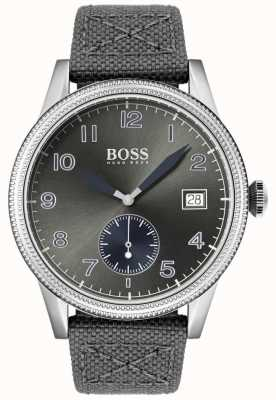 Hugo Boss | Mens Grey Canvas Strap | Legacy Watch | 1513683