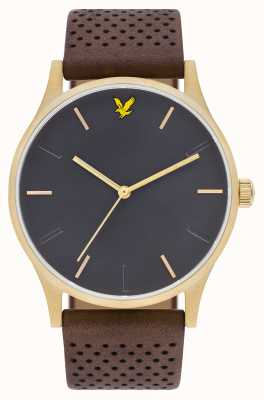 Lyle & Scott Mens Hope LE Brown Leather Strap Grey Dial LS-6014-03