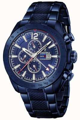 Festina | Mens Blue Plated Chronograph | Stainless Steel Bracelet | F20442/1