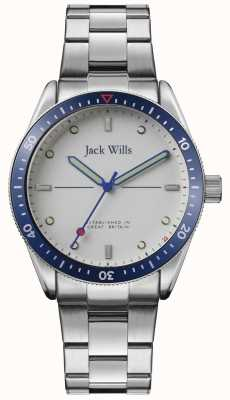 Jack Wills | Mens Mill Bay | Stainless Steel Bracelet | Silver Dial | JW015SLSL