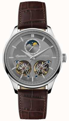 Ingersoll | Mens The Chord | Brown Leather Strap | Grey Dial | I07201