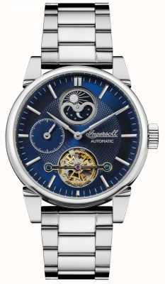 Ingersoll | Mens The Swing | Stainless Steel Bracelet | Blue Dial | I07501
