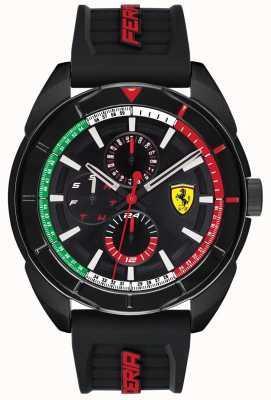 Scuderia Ferrari | Mens Forza | Black Rubber Strap | Black Chronograph Dial | 0830577