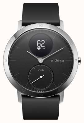 Withings Steel HR 40mm Black Silicone Strap HWA03-40BLACK-ALL-INTER