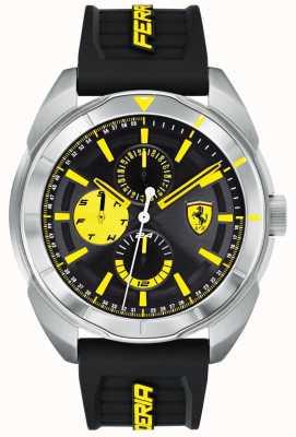 Scuderia Ferrari | Mens Forza | Black Rubber Strap | Black/Yellow Dial | 0830575