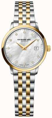 Raymond Weil | Womens Toccata Diamond | Two Tone Stainless Steel Bracelet 5985-STP-97081