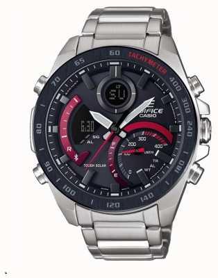 Casio Edifice Toro Rosso Solar Bluetooth Stainless Steel Bracelet ECB-900DB-1AER