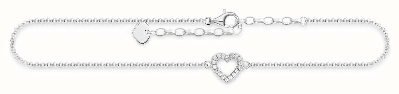 Thomas Sabo Heart Anklet 925 Sterling Silver/zirconia 22-27cm AK0007-051-14-L27V