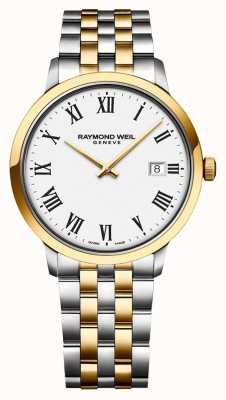 Raymond Weil Mens Toccata White Dial Two Tone Stainless Steel Bracelet 5485-STP-00300