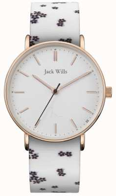 Jack Wills | Ladies Sandhill White Silicon | White Dial | JW018FLWH