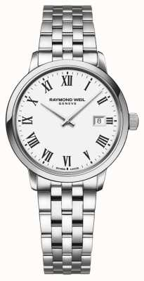 Raymond Weil | Ladies Toccata Stainless Steel Bracelet | White Dial | 5985-ST-00300