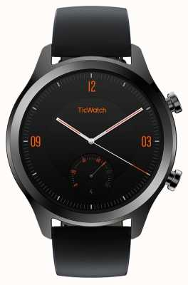 TicWatch C2 | Onyx Smartwatch | Black Leather Strap 130688-WG12036-ONYX