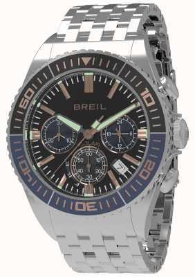 Breil | Mens Manta 1970 Solar | Black Dial | Dark Blue/Black Bezel TW1822