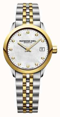 Raymond Weil Womens Freelancer Diamond Two Tone Stainless Steel 5626-STP-97081