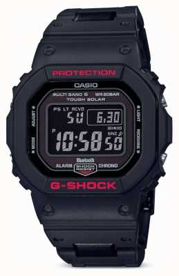 Casio Mens G-Shock Heritage Black Resin Strap Digital GW-B5600HR-1ER