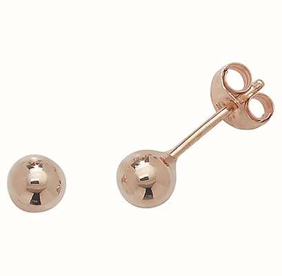 Treasure House 9ct Rose Gold 4 mm Ball Stud Earrings ES202R