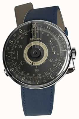 Klokers KLOK 08 Black Dial Indigo Blue Single Strap KLOK-08-D3+KLINK-01-MC3