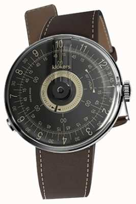 Klokers KLOK 08 Black Dial Chocolate Brown Single Strap KLOK-08-D3+KLINK-01-MC4