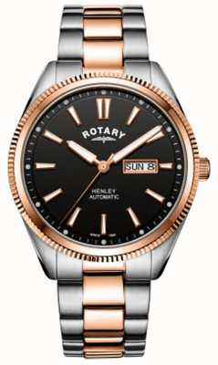 Rotary   Mens Henley   Serrated Bezel    Stainless Steel Strap   GB05382/04