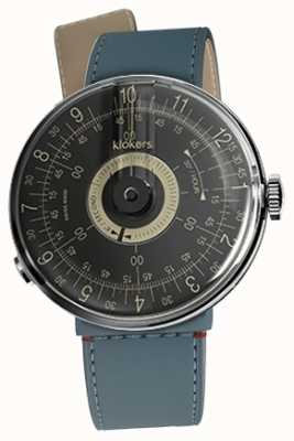 Klokers KLOK 08 Black Dial Blue Jean Strait Single Strap KLOK-08-D3+KLINK-04-LC10