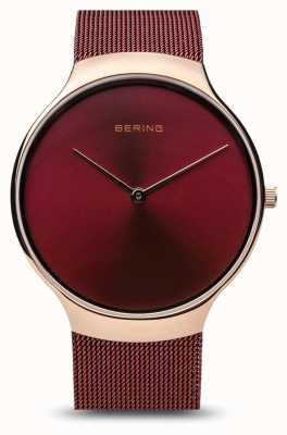 Bering | Womens Charity Watch | Red Mesh Strap | Red Dial | 13338-CHARITY