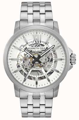 Kenneth Cole | Mens Automatic | Stainless Steel Bracelet | Silver Dial | KC50779005