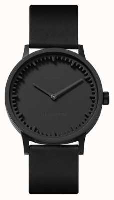 Leff Amsterdam | Tube Watch | T32 | Black | Black Leather Strap | LT74212