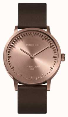 Leff Amsterdam | Tube Watch | T32 | Rose Gold | Brown Leather Strap | LT74424