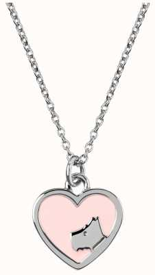 Radley Jewellery Silver/Pink Enamel Heart Pendant Necklace RYJ2071