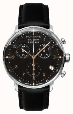 Iron Annie Bauhaus | Chrono | Black Dial | Black Leather 5096-2