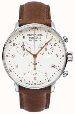 Iron Annie Bauhaus | Chrono | White Dial | Brown Leather 5096-4
