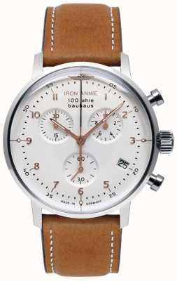 Iron Annie Bauhaus | Chrono | White Dial | Brown Leather 5096-4