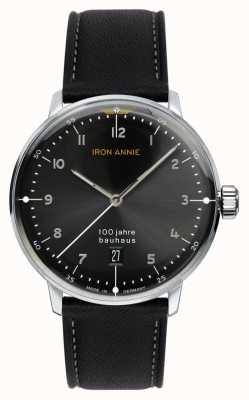 Iron Annie Bauhaus | Black Dial | Black Leather Strap 5046-2