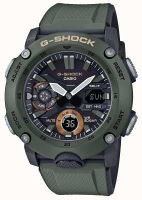 Casio | G-Shock Carbon Core Guard | Green Rubber Strap | GA-2000-3AER