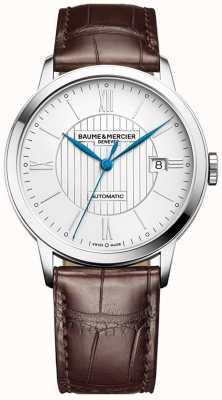 Baume & Mercier | Mens Classima | Automatic | Brown Leather | Silver Dial | BM0A10214