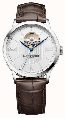 Baume & Mercier | Mens Classima | Brown Leather | Silver Dial | Automatic | M0A10274
